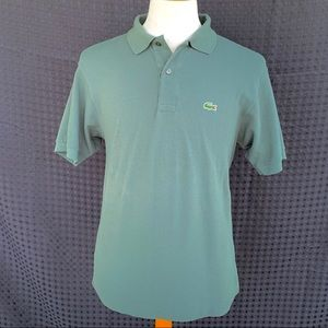 Lacoste Forest Green Cotton Polo.  Size 5/US med.